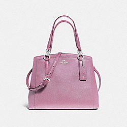MINETTA CROSSBODY IN GLITTER CROSSGRAIN LEATHER - f13683 - SILVER/LILAC