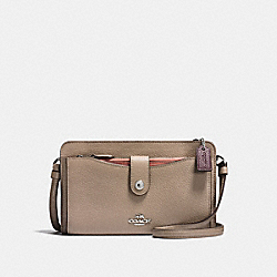 COACH F13685 - POP-UP MESSENGER IN COLORBLOCK STONE/MELON MULTI/SILVER