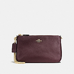 COACH F13947 Nolita Wristlet 22 OXBLOOD/LIGHT GOLD