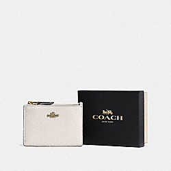COACH F14469 Boxed Mini Skinny Id Case LI/CHALK
