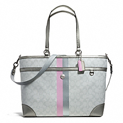 COACH F14475 Peyton Stripe Multifunction Tote