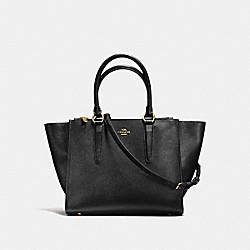 CROSBY CARRYALL IN CROSSGRAIN LEATHER - f14928 - IMITATION GOLD/BLACK