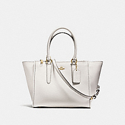 CROSBY CARRYALL IN CROSSGRAIN LEATHER - f14928 - IMITATION GOLD/CHALK