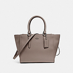 COACH F14928 Crosby Carryall BLACK ANTIQUE NICKEL/FOG
