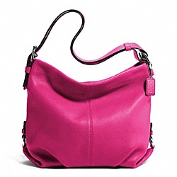 LEATHER DUFFLE - f15064 - SILVER/FUCHSIA
