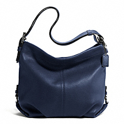 LEATHER DUFFLE - f15064 - SILVER/MIDNIGHT