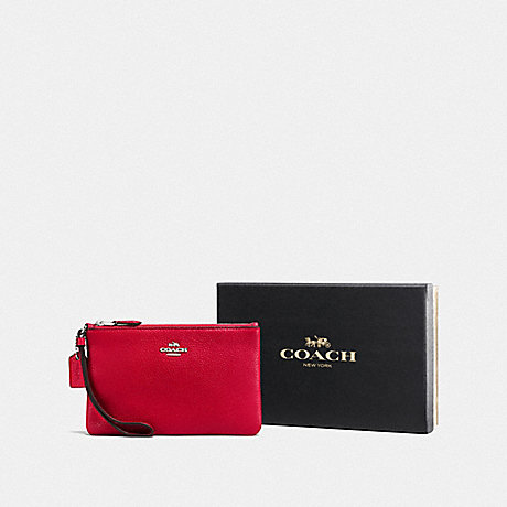 COACH F16111 BOXED SMALL WRISTLET SV/RED
