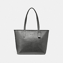 COACH F16224 - CITY ZIP TOTE GUNMETAL/SILVER
