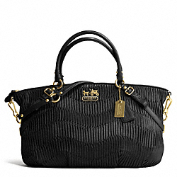 COACH F16264 - MADISON GATHERED LEATHER LARGE SOPHIA SATCHEL BRASS/BLACK/BLACK
