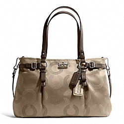 COACH F16366 - MADISON DOTTED OP ART CARRYALL ONE-COLOR