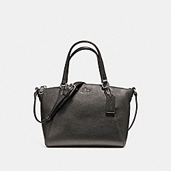 MINI KELSEY SATCHEL IN METALLIC PEBBLE LEATHER - f16479 - SILVER/GUNMETAL