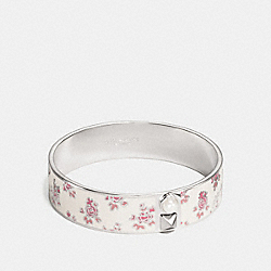 COACH F16509 Prairie Floral Bangle CHALK/SILVER