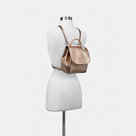COACH f16605 DERBY BACKPACK ROSE GOLD/SILVER