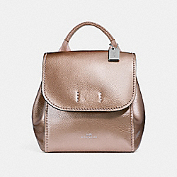 COACH F16605 - DERBY BACKPACK ROSE GOLD/SILVER