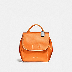 DERBY BACKPACK - f16605 - METALLIC TANGERINE/SILVER