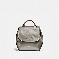 DERBY BACKPACK - F16605 - GUNMETAL/SILVER