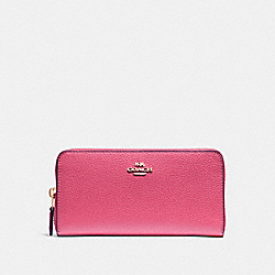 COACH F16612 Accordion Zip Wallet PINK RUBY/GOLD