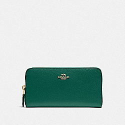 COACH F16612 Accordion Zip Wallet JADE