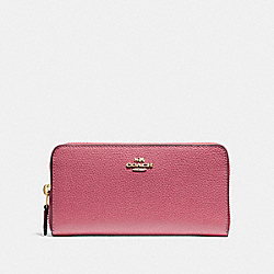 COACH F16612 Accordion Zip Wallet STRAWBERRY/IMITATION GOLD