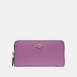 ACCORDION ZIP WALLET - F16612 - PRIMROSE/LIGHT GOLD