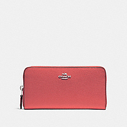 COACH F16612 Accordion Zip Wallet CORAL 2/SILVER