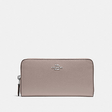 COACH F16612 ACCORDION ZIP WALLET GREY BIRCH/SILVER