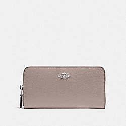 COACH F16612 - ACCORDION ZIP WALLET GREY BIRCH/SILVER