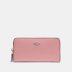 COACH F16612 Accordion Zip Wallet PETAL/SILVER