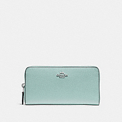 COACH F16612 - ACCORDION ZIP WALLET SEAFOAM/SILVER