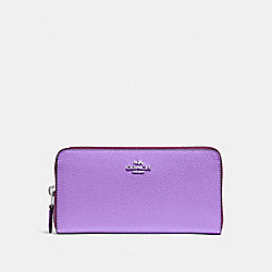 COACH F16612 Accordion Zip Wallet IRIS/SILVER