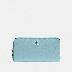 COACH F16612 Accordion Zip Wallet CLOUD/SILVER