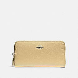 COACH F16612 Accordion Zip Wallet VANILLA/SILVER