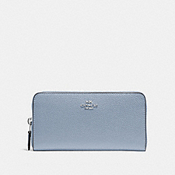 COACH F16612 Accordion Zip Wallet STEEL BLUE