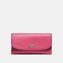 COACH F16613 Checkbook Wallet SILVER/MAGENTA