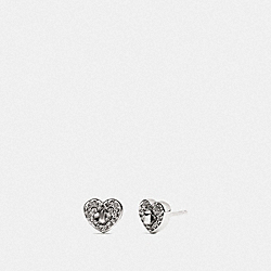 COACH F17448 Twinkling Heart Stud Earring SILVER