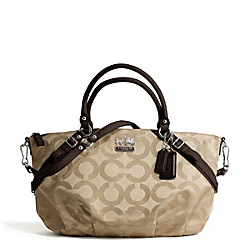 COACH F17691 Madison Op Art Sateen Large Sophia Satchel