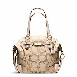 COACH F17820 Chelsea Signature Reps Emerson North/south Satchel IVORY/LIGHT KHAKI/GOLD