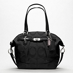 COACH F17820 - CHELSEA SIGNATURE REPS EMERSON NORTH/SOUTH SATCHEL SILVER/BLACK