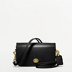 COACH F17994 Coach Classic Shoulder Purse In Leather BRASS/BLACK