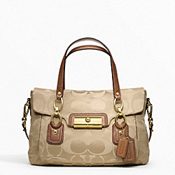 COACH F18265 Kristin Signature Sateen Flap Satchel