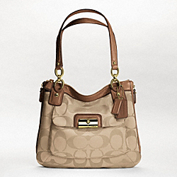 COACH F18301 - KRISTIN SIGNATURE SATEEN ZIP TOTE ONE-COLOR