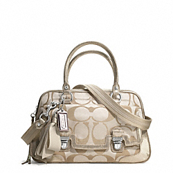 COACH F18358 - POPPY SIGNATURE SATEEN PUSHLOCK SATCHEL ONE-COLOR