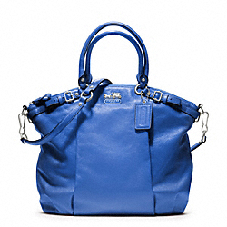 COACH F18641 Madison Leather Lindsey Satchel SILVER/COBALT