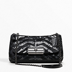 COACH F18658 Kristin Occasion Haircalf Sequins Willow Small Shoulder Bag