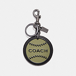 COACH F18821 - NYC BASEBALL KEY RING MILITARY GREEN