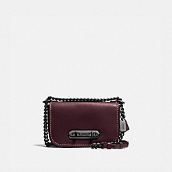 COACH F18858 - COACH SWAGGER SHOULDER BAG 20 OXBLOOD/DARK GUNMETAL