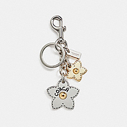 COACH F18859 Wildflower Bouquet Bag Charm SILVER/MULTI