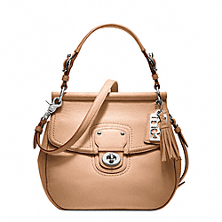 COACH F19132 - LEATHER NEW WILLIS SILVER/NATURAL