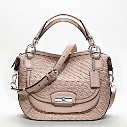 COACH F19312 - KRISTIN WOVEN LEATHER ROUND SATCHEL ONE-COLOR