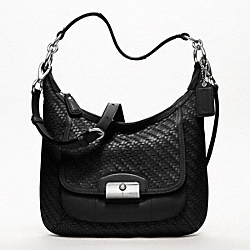 COACH F19314 Kristin Woven Leather Hobo